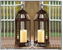 10 Large 17 tall Malta BRONZE BROWN Candle holder lantern wedding centerpiece