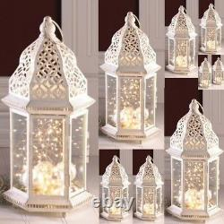 10 Large Distressed Lantern Moroccan Candleholder Wedding Centerpieces 16 Tall
