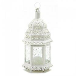 10 Moroccan Style Lantern Creamy White Candleholder Wedding Centerpieces 12Tall