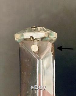 10 RARE 60mm BACCARAT CRYSTAL GLASS CANDELABRA CANDLESTICK SPEAR PRISMS