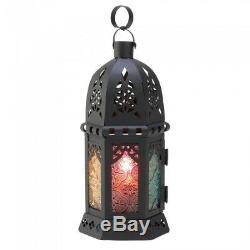 10 Rainbow Lamp Lantern Ornate Metalwork Candle Holder Wedding Centerpieces