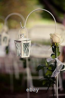 10 lot Small MINI white Candle Holder lantern wedding favor centerpiece & stand
