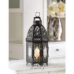 10 moroccan lace 12 tall Candle holder Lantern light wedding table centerpiece