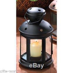 12 BLACK Candle holder Lantern light outdoor terrace wedding table centerpiece