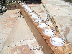 12 Hole Wooden Sugar Mold Candle Holder COMPLETE Set with clear glass votives