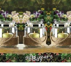 12 nautical beach 6 lantern Glass mason Jar Candle holder table centerpiece