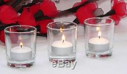 144 Clear glass votive tealight candle holder favor wholesale resell BULK BUY