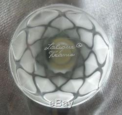 $1495 Lalique Crystal CANDLE HOLDER VIBRATION 1 Light French Art Glass 1096100