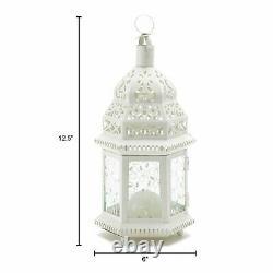 15 Moroccan Style Lantern 12 in Creamy White Candleholder Wedding Centerpiece