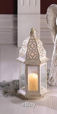 15 bulk lot White Moroccan 12 shabby Candle holder lantern wedding centerpiece