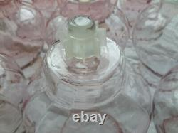 16 HOMCO 1192-BL Pink Celeste Glass PEG Votive Cup Candle Holders withNEW Grommets