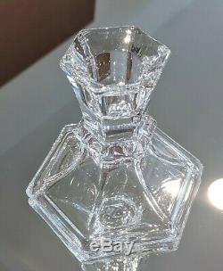 19 VINTAGE Crystal Glass Candle Candlestick Holders LOT WEDDING