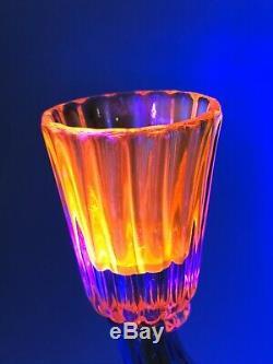 1957 Flavio Poli Seguso Vetri d'Arte Cadmium Cased Neodymium Glass Candelabra