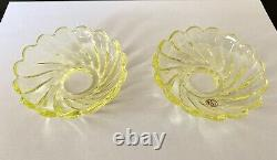 2 Antique French Baccarat Signed 3.5 Glass Bobeches Candelabra Chandelier Parts