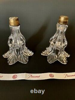 2 Baccarat Scalloped Glass Candle Cups Parts Finials For Candelabra Candlestick