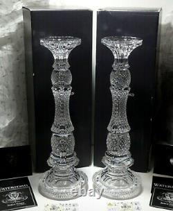 2 New Waterford Crystal Triumph 16 1/4 Candlestick Candle Holder Jorge Perez