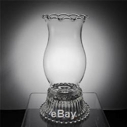 2 Vintage Imperial Candlewick Crystal Glass Hurricane Candle Holders Lamp Set