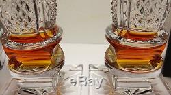 2 Waterford Crystal Golden Age 16 1/4 Candlesticks Candle Holders Jorge Perez