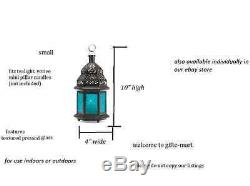 20 BLUE Moroccan Candle holder small 10 lantern wedding table centerpiece cheap