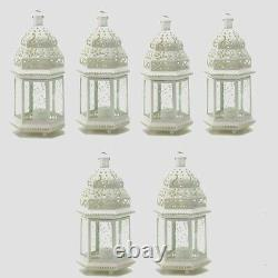 20 Moroccan Style Lantern Creamy White Candleholder Wedding Centerpiece 12