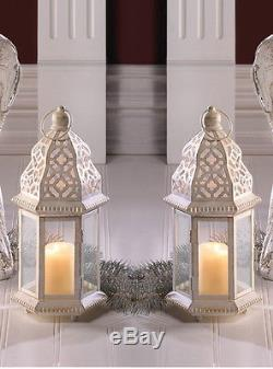 20 White Moroccan 12 shabby Candle holder lantern floral wedding centerpieces