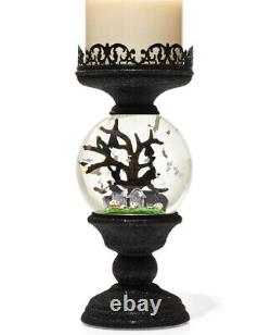 2021 Bath & Body Works Halloween Water Globe Light Up 3 Wick Candle Holder, NEW