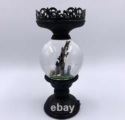 2021 Bath and Body Works Halloween Globe Cemetery 3-wick Candle Holder