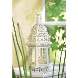 24 White Moroccan Style Candle Holder Lantern Wedding Centerpiece Decor38465