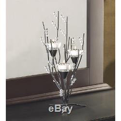 25 ICICLE crystal Ice Tree branch Winter votive candelabra Candle holder Wedding