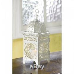 25 Lot White Moroccan Marrakech Lantern Candle Holder Wedding Centerpieces