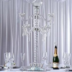 35 Clear Crystal Candelabra Votive Candle Holder Pedestal Wedding Party SALE