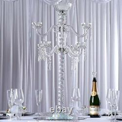 35 tall Clear Glass Crystal Candelabra Votive Candle Holder Wedding Supplies