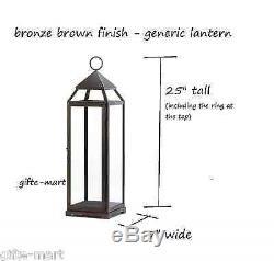 5 Large 24 tall Malta BRONZE BROWN Candle Lantern holder wedding centerpiece