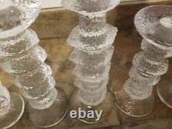 5 MCM Iittala Finland Timo Sarpaneva Glass Festivo Candle Holders 8 5 4 2 Rings