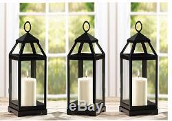 5 black 15 slender malta Candle holder Lantern light wedding table centerpiece