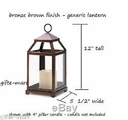 5 bulk 12 Malta rustic bronze Garden Candle Lantern holder wedding centerpiece