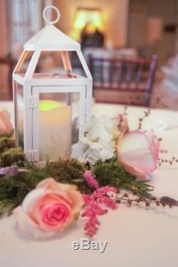 5 bulk 12 Malta rustic white Garden Candle Lantern holder wedding centerpiece