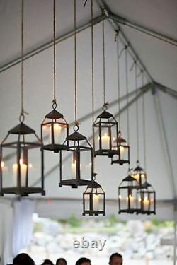 5 bulk small 12 Malta rustic BLACK Candle Lantern holder wedding centerpiece