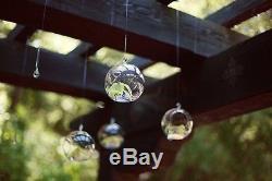50 8cm Small Glass Bubble Ball Hanging candle holder wedding centrepiece BULK B