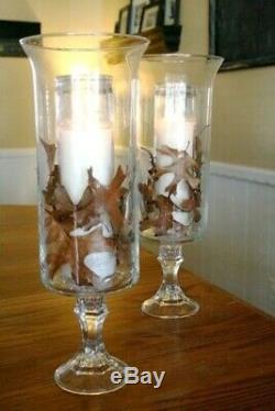 6 Flared Pedestal Cylinder Vases Wedding Glass Table Centerpiece Candle Holders