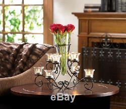 6 Large Black Candelabra Candle Holder Table Decor Wedding Centerpieces