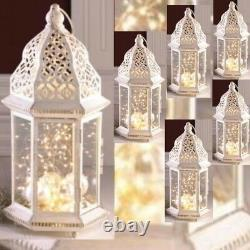 6 Large Distressed Lantern Moroccan Candleholder Wedding Centerpieces 16 Tall