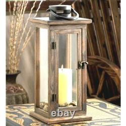 6 Rustic Wood Candle Lantern Large Tall Candleholder Wedding Centerpieces