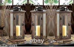 6 large 16 tall Wood metal Candle holder Lantern lamp wedding table centerpiece