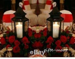 6 large black 16 country western Candle holder Lantern wedding table decoration