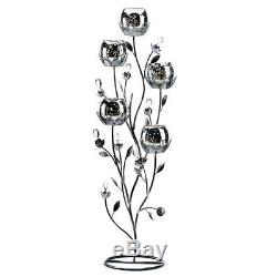 6 silver shabby tall Candelabra Candle holder floral wedding table centerpiece