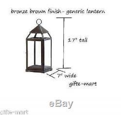 8 Large 17 tall Malta BRONZE BROWN Candle holder lantern wedding centerpiece