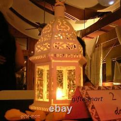 8 lot White Moroccan shabby 12 Candle holder lantern wedding table centerpieces
