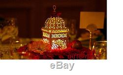 8 lot white Moroccan scrollwork Lantern Candle holder wedding table centerpiece