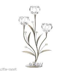 8 silver crystal clear flower 19 candelabra Candle Holder wedding centerpiece